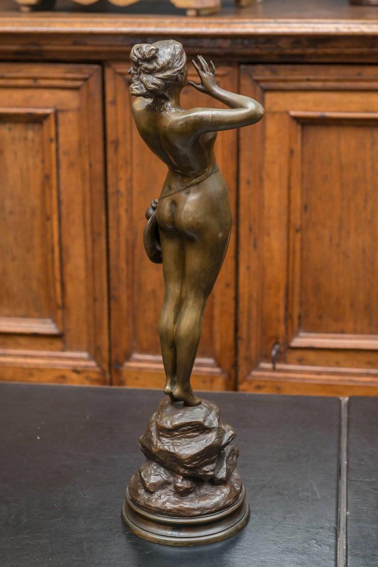 19th Century Art Nouveau Bronze Sculpture of a Female