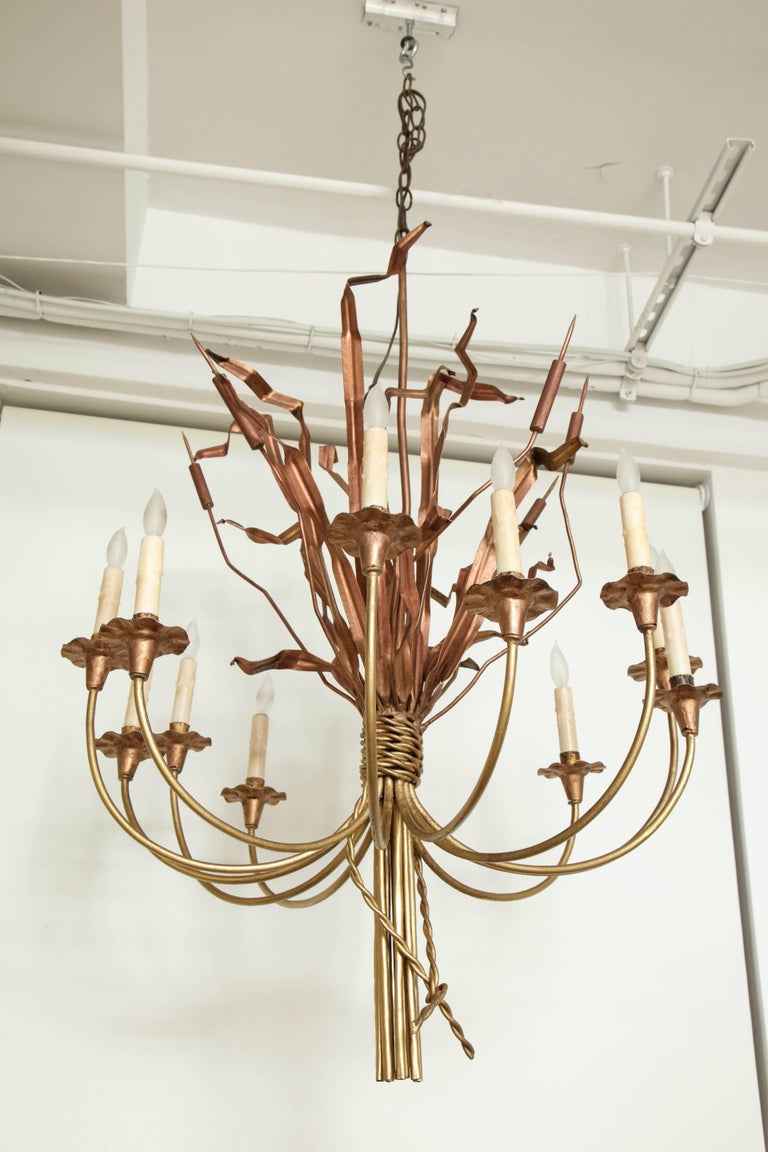 Neoclassic Cattail Chandelier For Sale 3