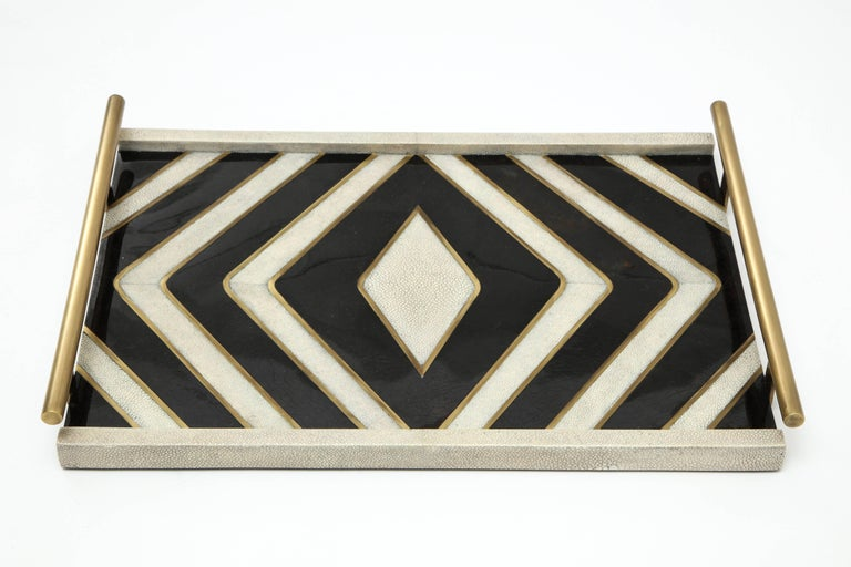 Art Deco Shagreen Tray Offered by Area ID For Sale