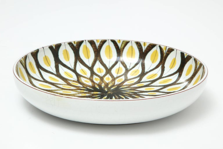 Mid-Century Modern Faience Bowl by Stig Lindberg, Sweden, circa 1950 For Sale
