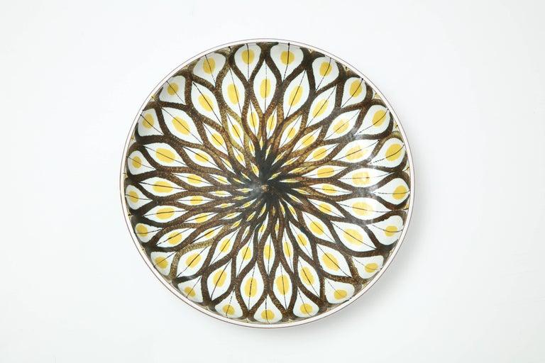 Swedish Faience Bowl by Stig Lindberg, Sweden, circa 1950 For Sale