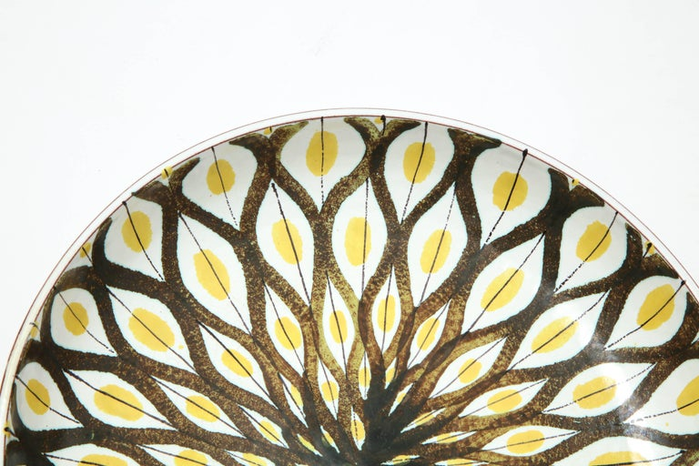 Hand-Crafted Faience Bowl by Stig Lindberg, Sweden, circa 1950 For Sale