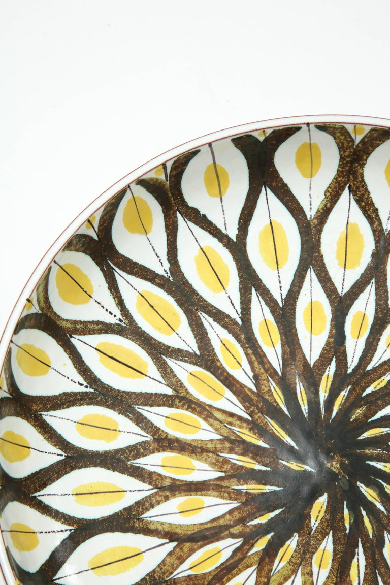 Faience Bowl by Stig Lindberg, Sweden, circa 1950 For Sale 2