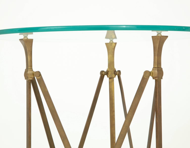 Pair of Neoclassical Side Tables Attributed to Jansen For Sale 1