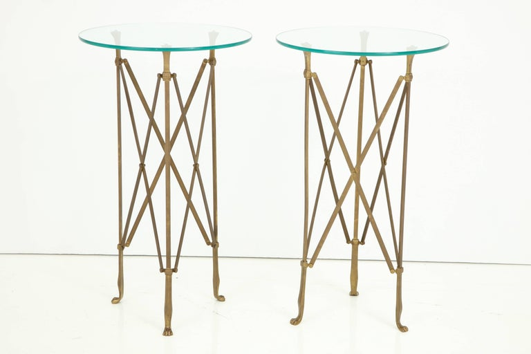 Pair of Neoclassical Side Tables Attributed to Jansen For Sale 2