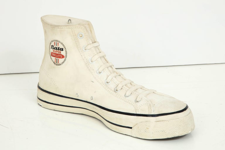 Large Plaster Promotional Bata Sneaker In Excellent Condition For Sale In New York, NY