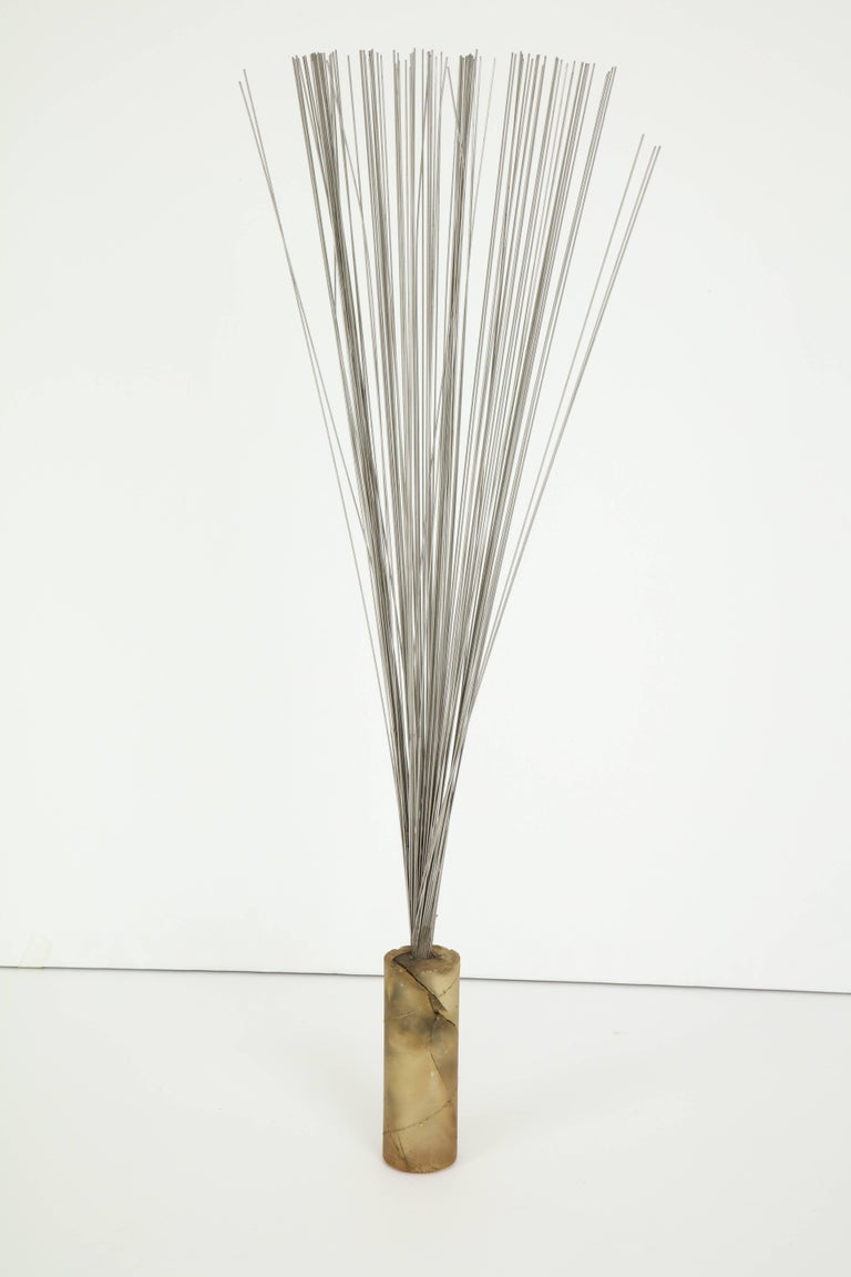 Resin and Steel Rods Kinetic Sculpture In Fair Condition For Sale In New York, NY