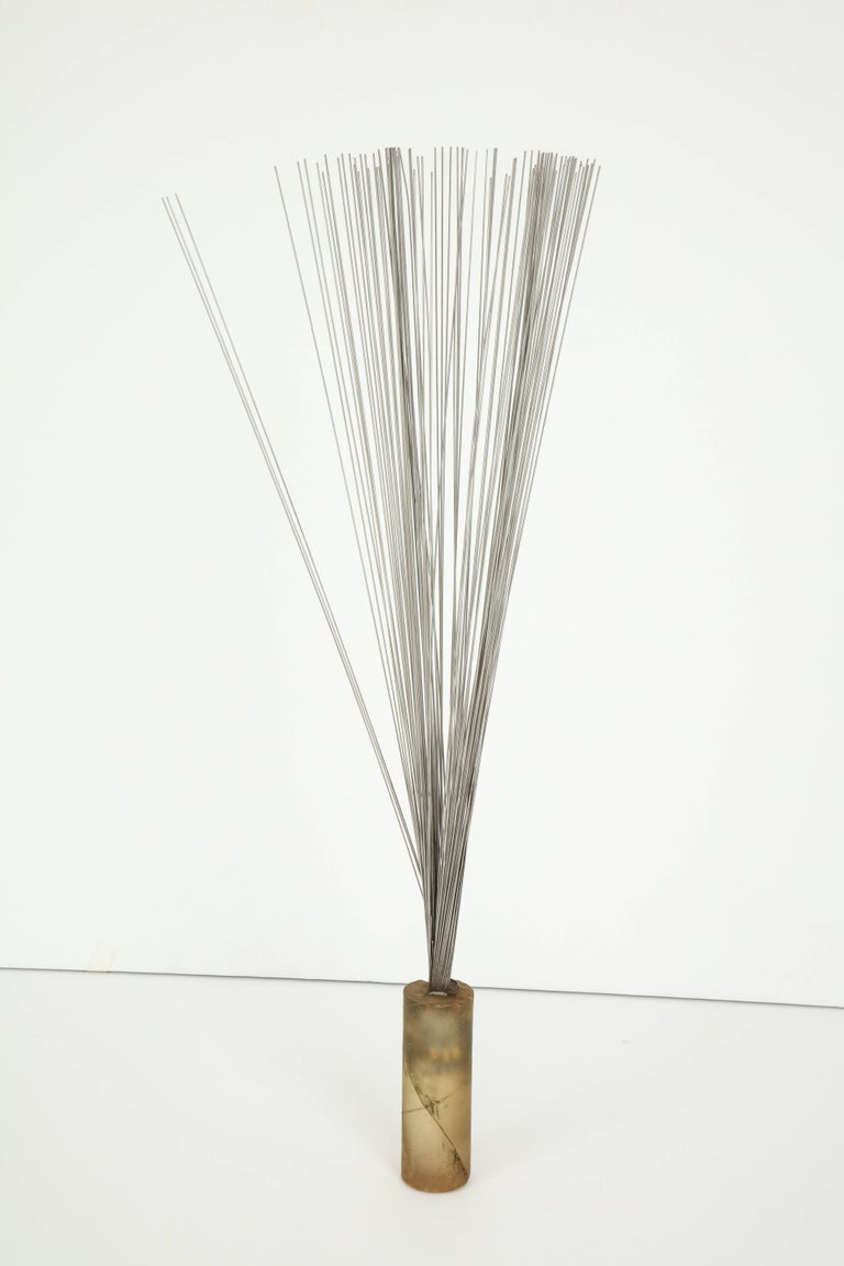 Resin and Steel Rods Kinetic Sculpture For Sale 1