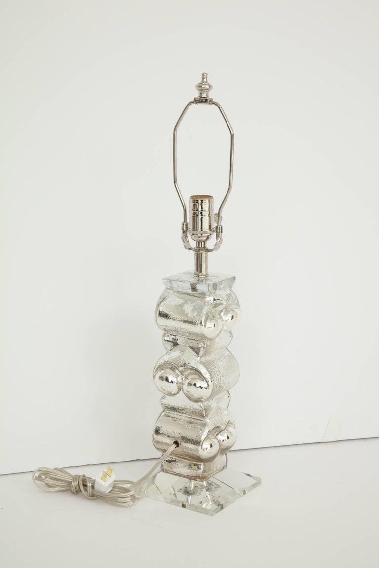 Blown Glass Bengt Edenfalk Swedish Mercury Glass Lamps For Sale
