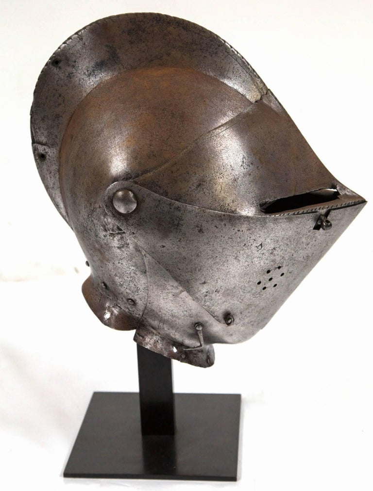 18th Century and Earlier Antique Chevalier Helmet, France, 16th Century For Sale