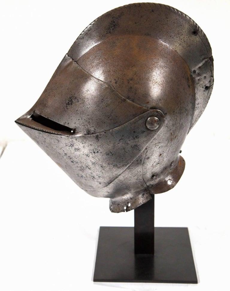 Antique Chevalier Helmet, France, 16th Century For Sale 1