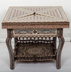 Moorish Style Inlaid Game Table