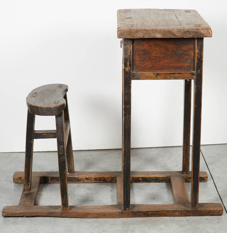 Antique Chinese School Desk For Sale 1