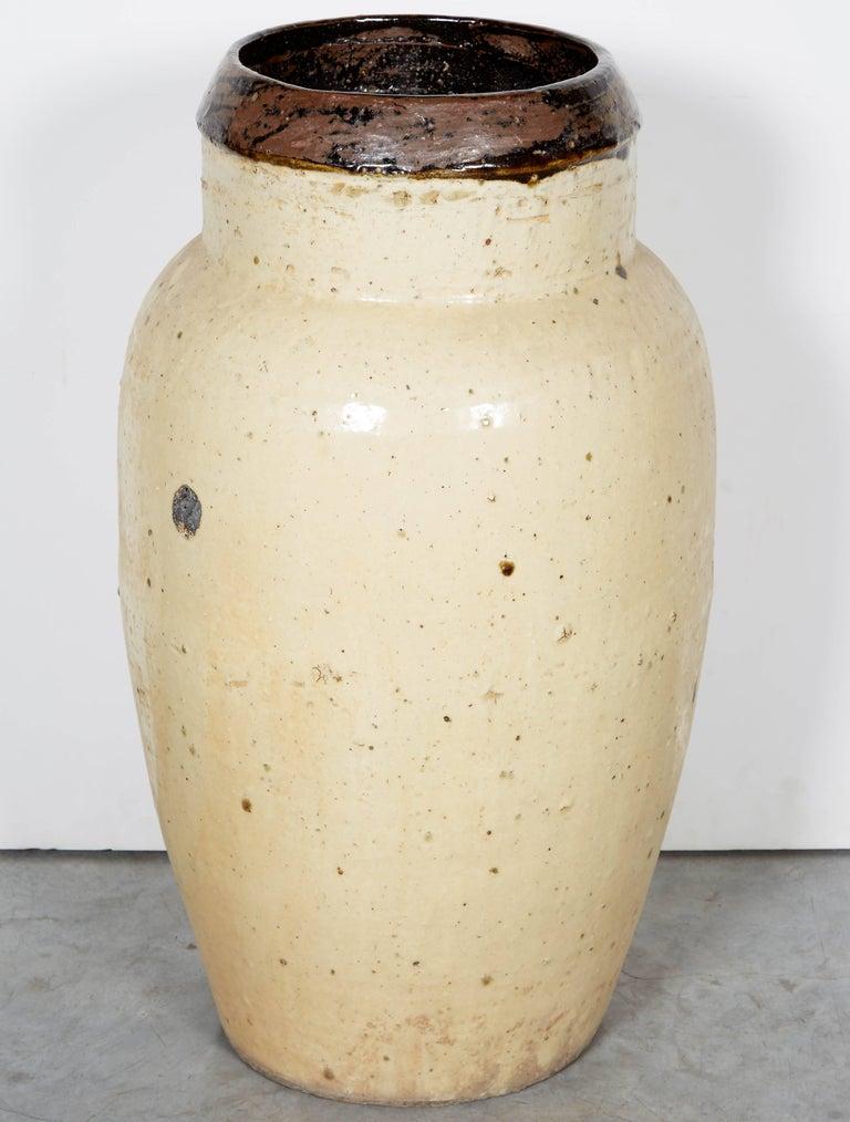 19th Century Tall Antique Chinese Ceramic Wine Jar, circa 1850 For Sale