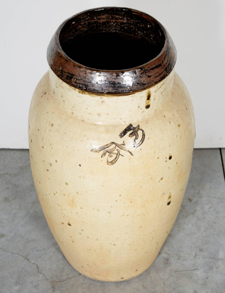 Tall Antique Chinese Ceramic Wine Jar, circa 1850 For Sale 4