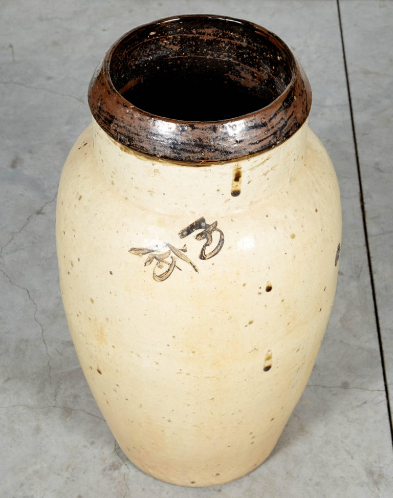 Tall Antique Chinese Ceramic Wine Jar, circa 1850 For Sale 6