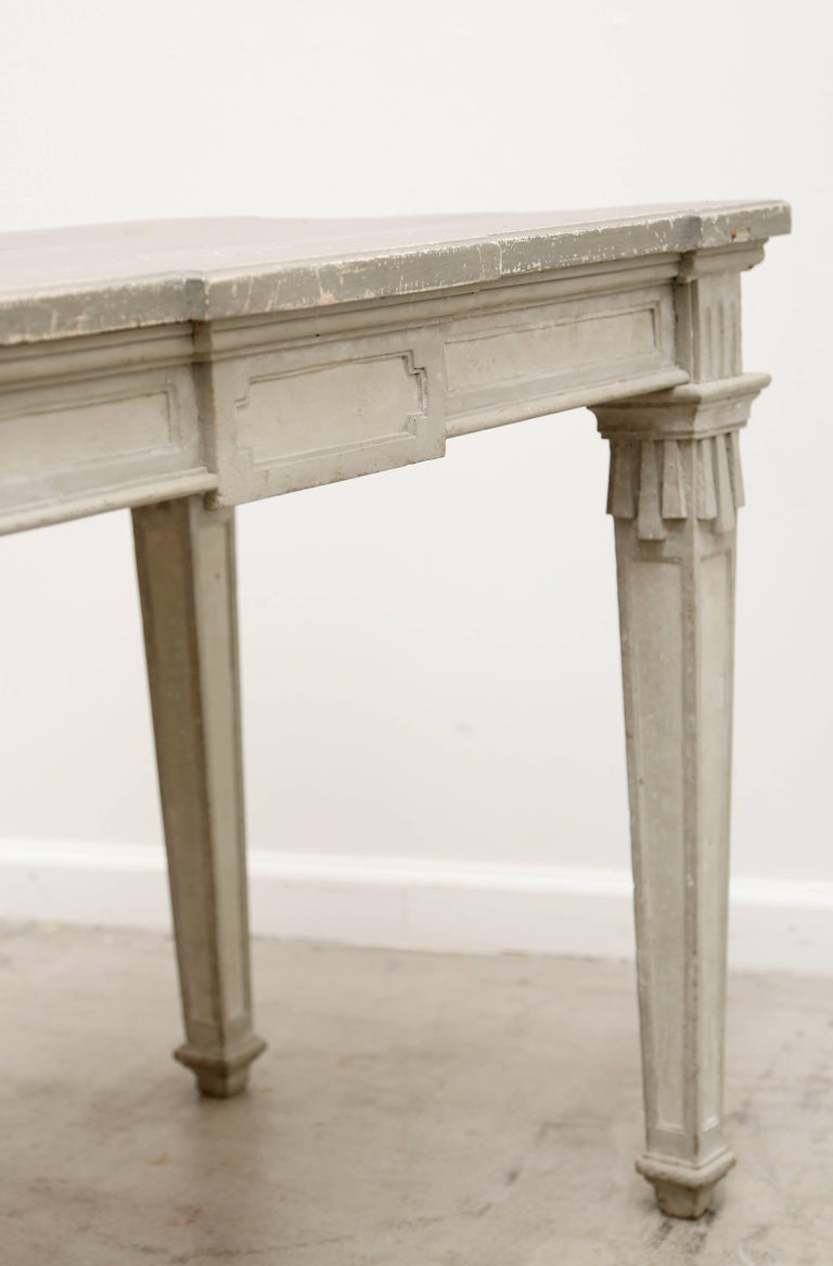 Antique Swedish Period Gustavian Painted Console Table Early 19th Century In Good Condition For Sale In West Palm Beach, FL