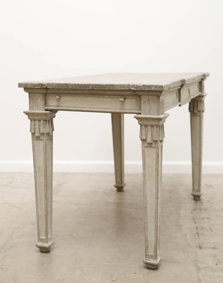 Antique Swedish Period Gustavian Painted Console Table Early 19th Century For Sale 2