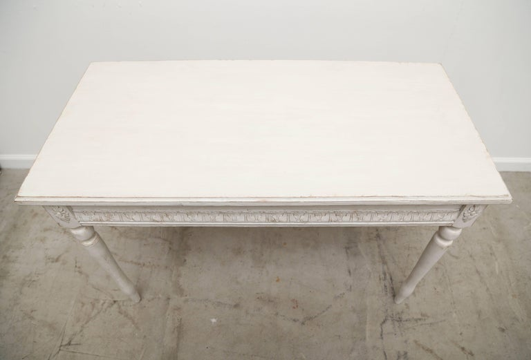Gustavian Pair of Antique Swedish Painted Console Tables, Late 19th Century For Sale
