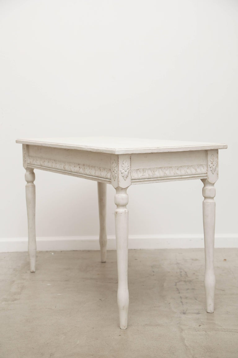 Pair of Antique Swedish Painted Console Tables, Late 19th Century For Sale 1
