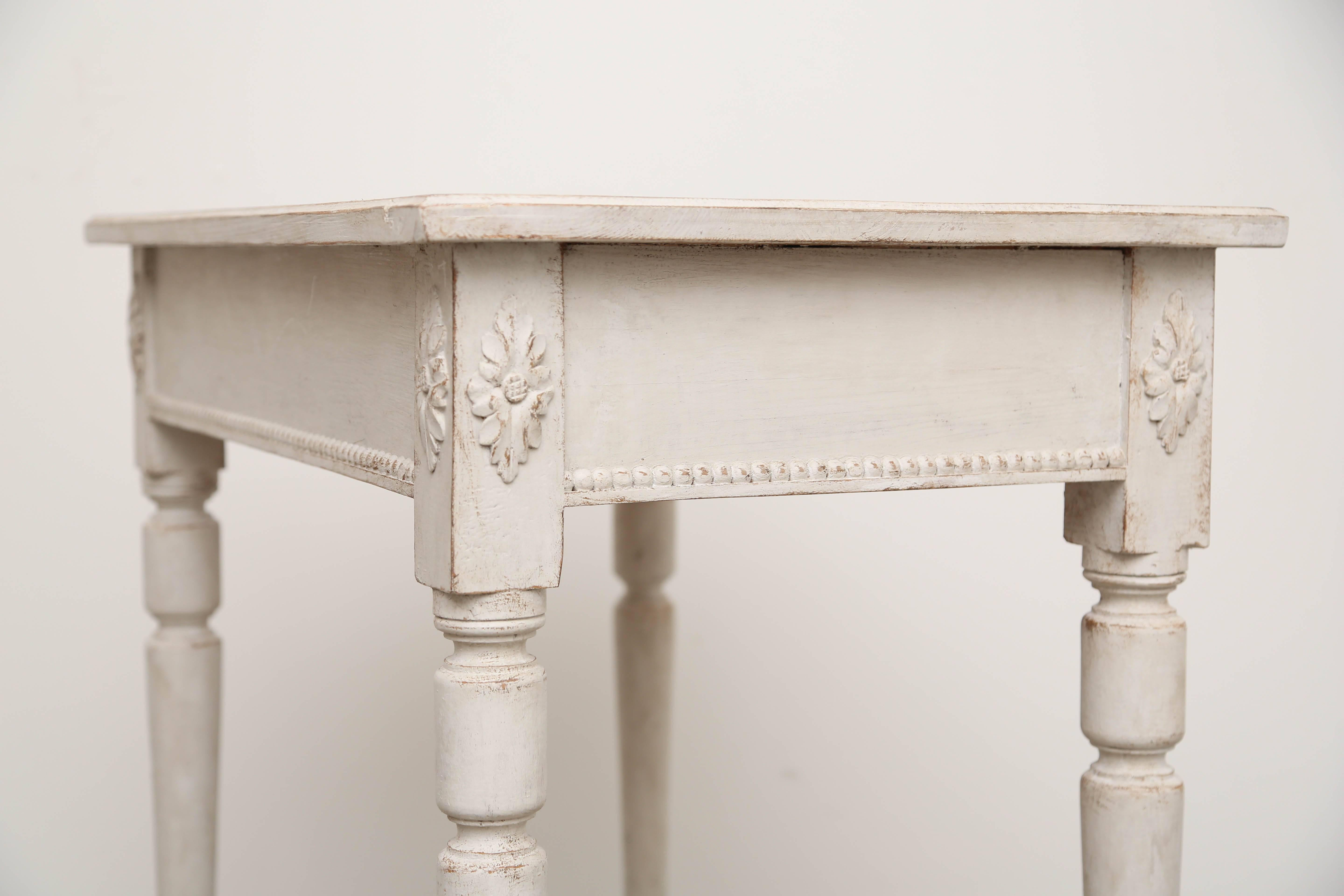 Pair Of Swedish Antique Painted Side Tables Gustavian Style 19th Century  For Sale 1