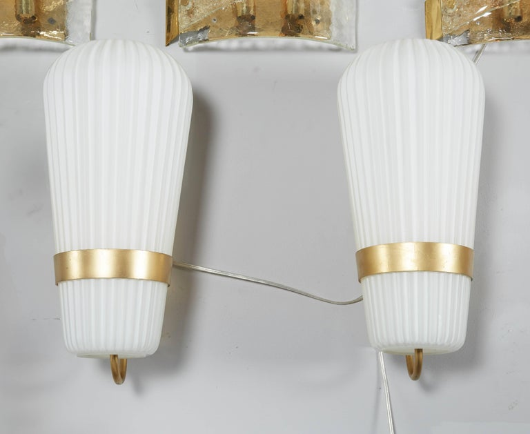 Vintage Pair of Philips Opal Sconces 2