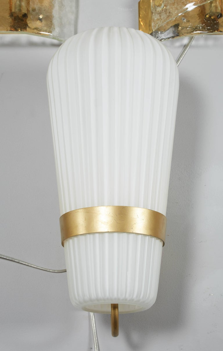 Vintage Pair of Philips Opal Sconces 3