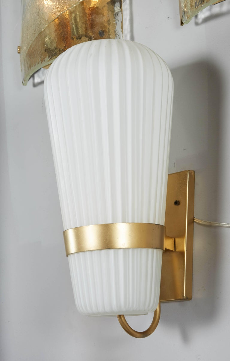 Vintage Pair of Philips Opal Sconces 4