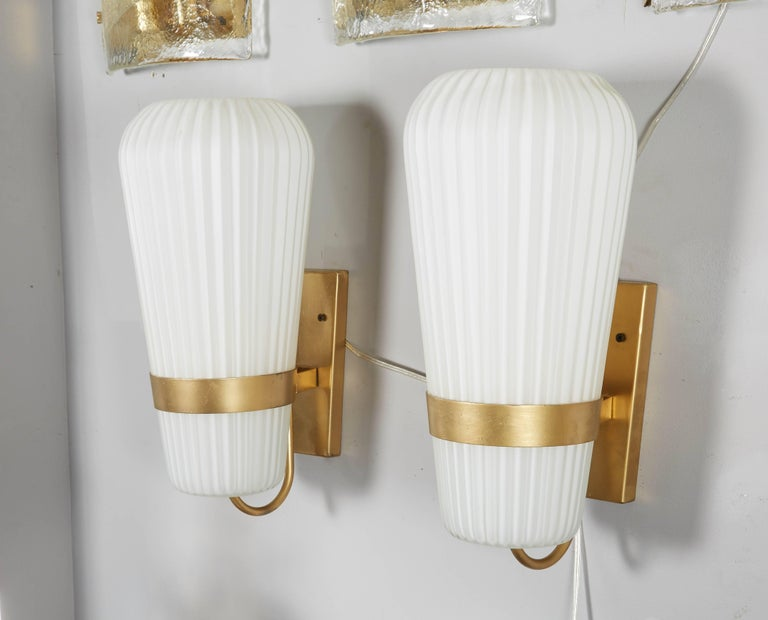 Vintage Pair of Philips Opal Sconces 5