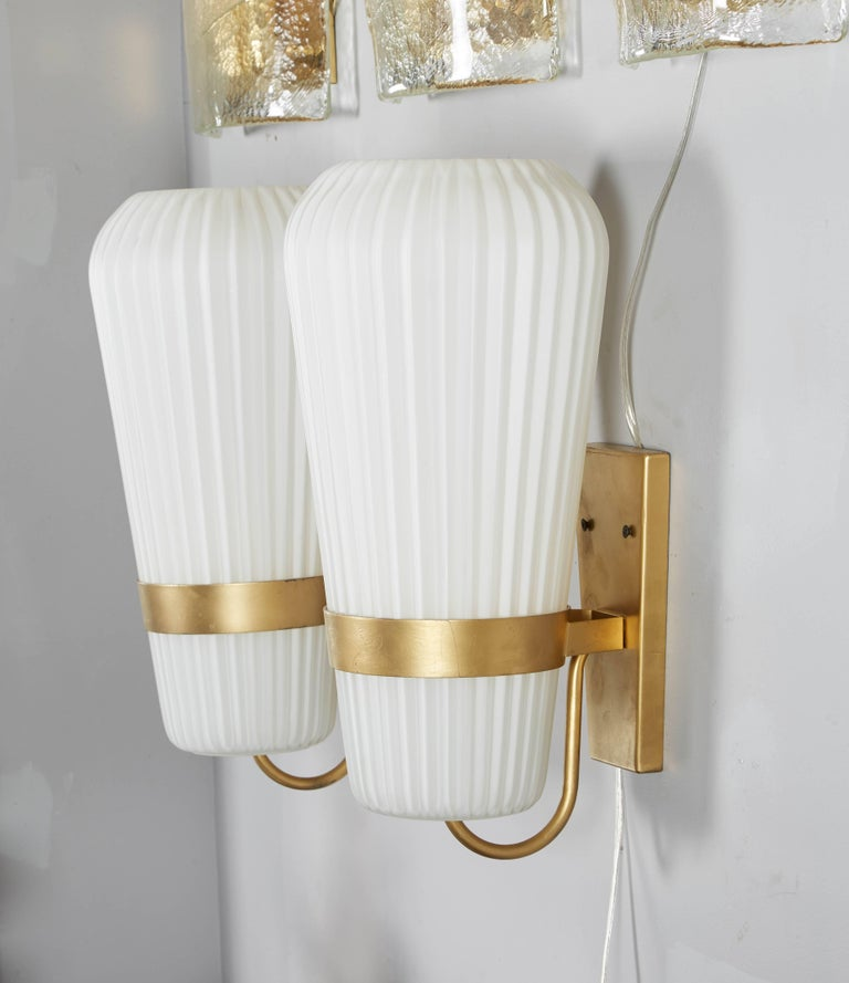 Vintage Pair of Philips Opal Sconces 6
