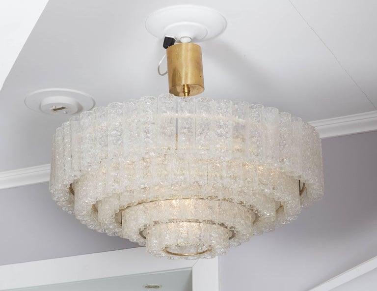 Vintage four-tier Doria pendant chandelier.