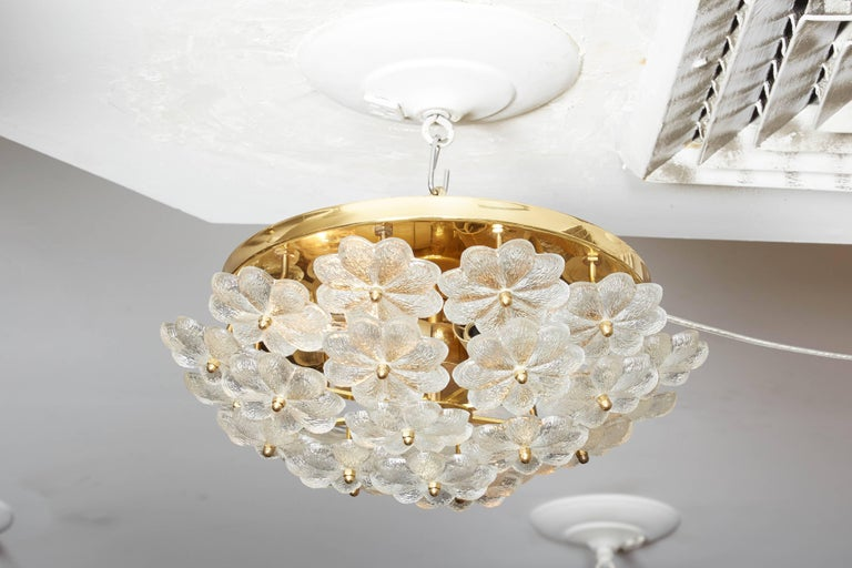 Vintage Daisy floral glass flush mount.