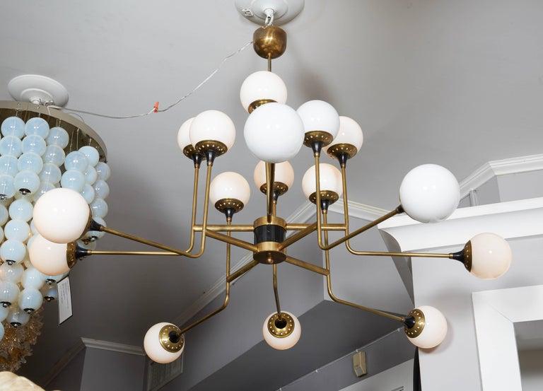 Vintage Stilnovo chandelier.