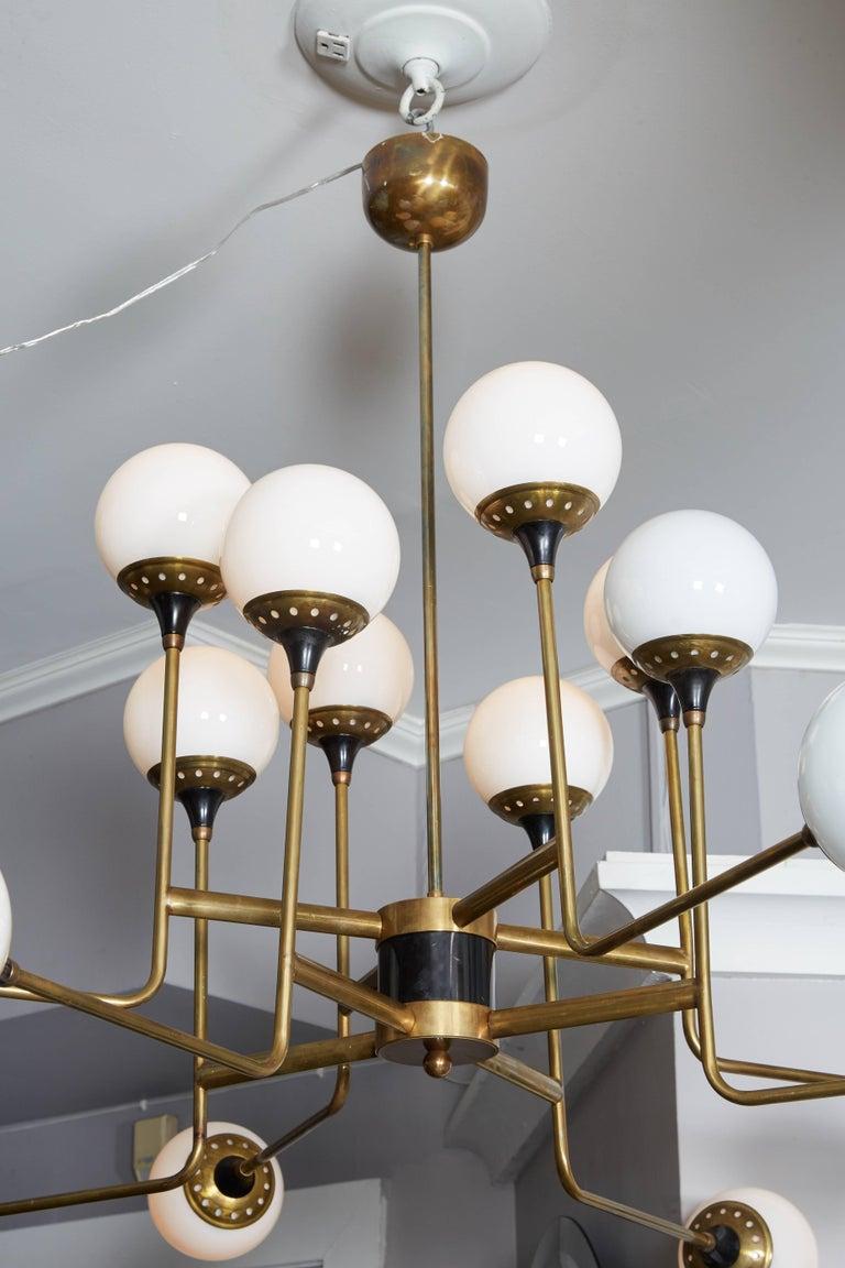 Mid-Century Modern Vintage Stilnovo Chandelier For Sale