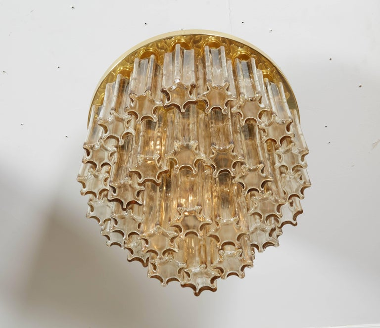 Mid-Century Modern Three-Tier Limburg Flush Mount For Sale