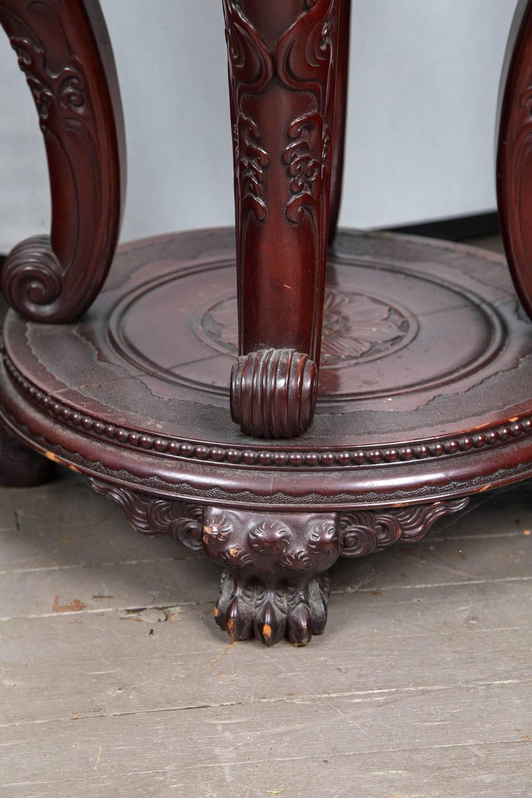 Hand-Carved Unusual Japanese Table For Sale