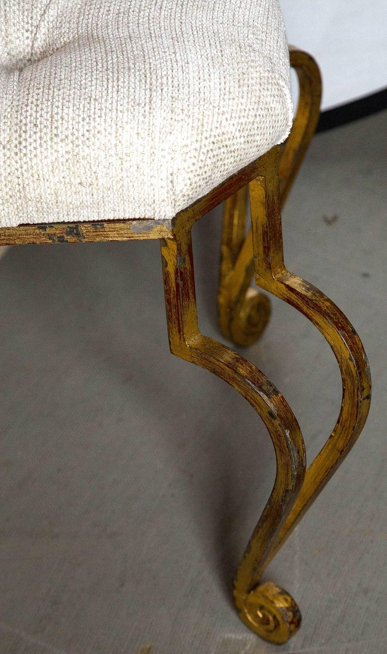 Re-Upholstered Mid-Century Modern Bench For Sale 2