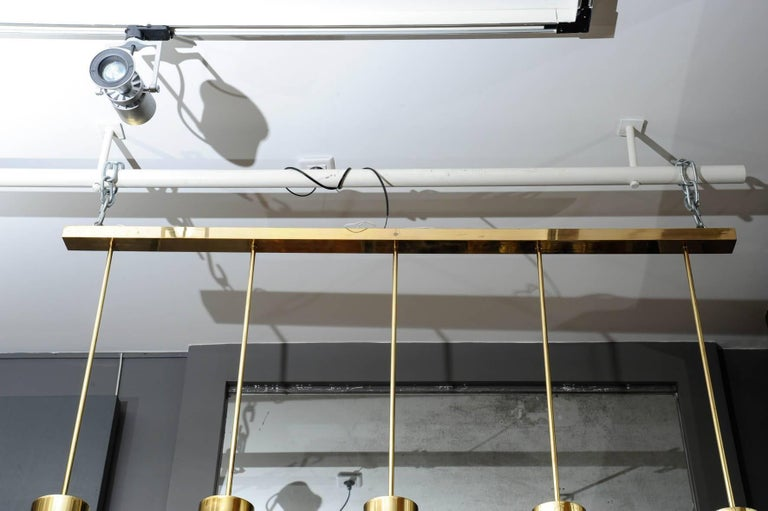 Brass and Glass Pendant by Leucos In Good Condition For Sale In Saint-Ouen, IDF