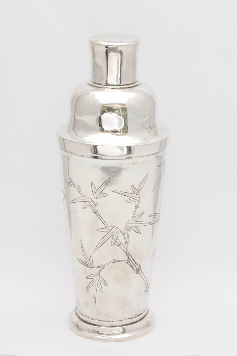 Japanese Mid-Century Modern Sterling Silver Cocktail Shaker For Sale