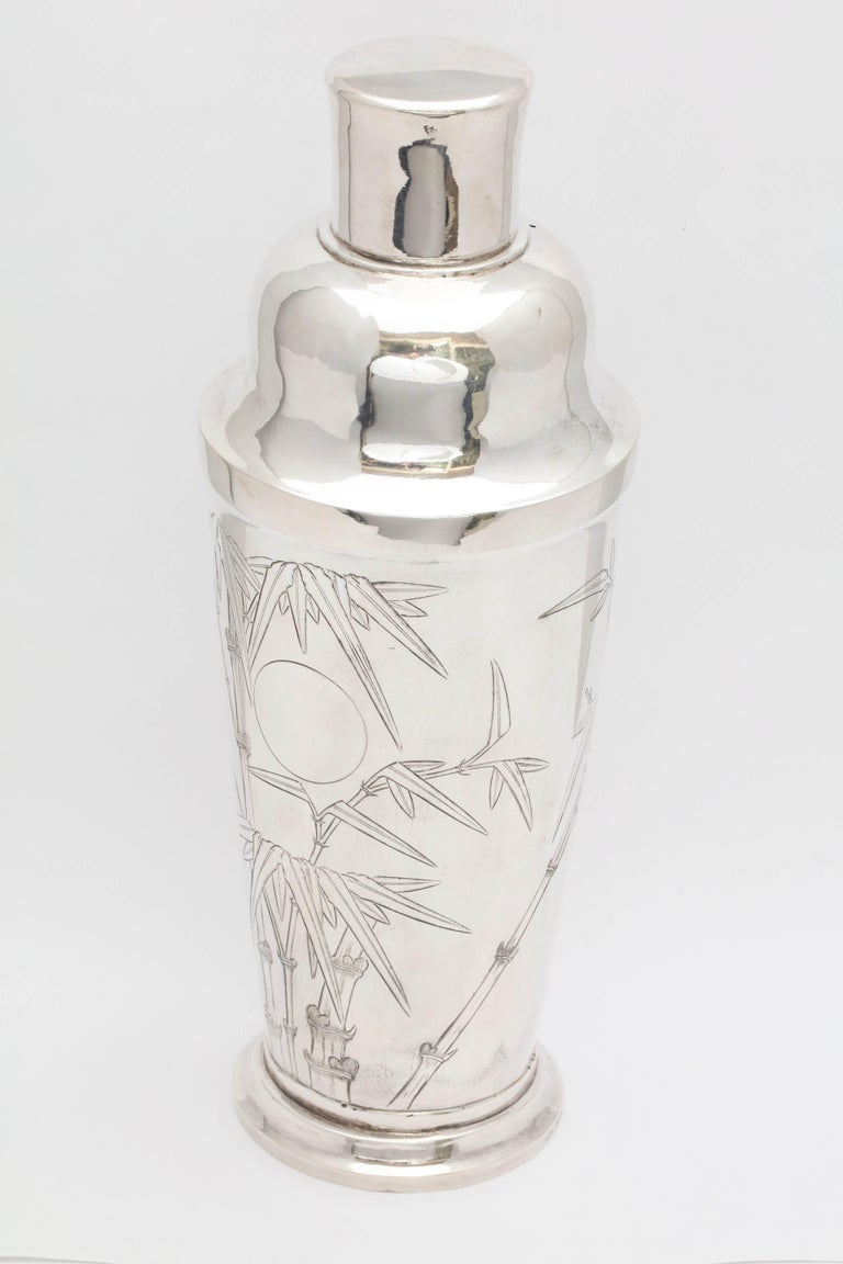 Mid-20th Century Mid-Century Modern Sterling Silver Cocktail Shaker For Sale