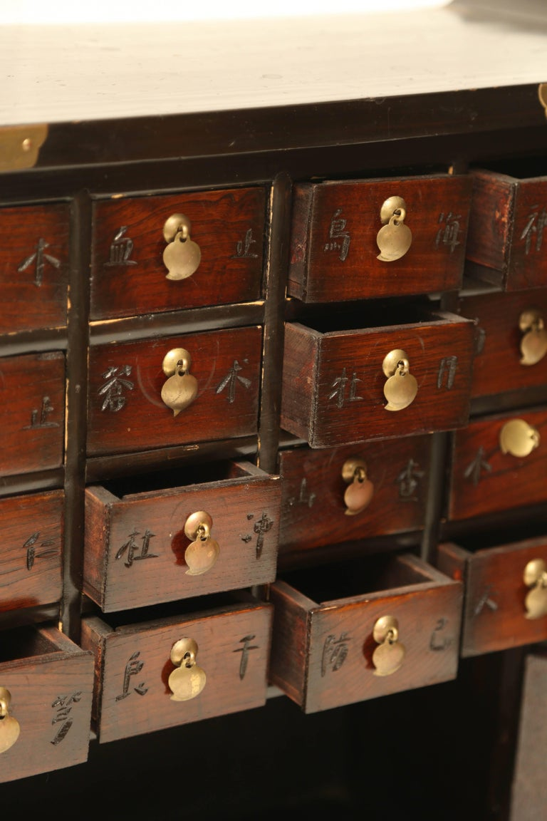 Superb Chinese Apothecary Chinese Multi Drawer Cabinet At