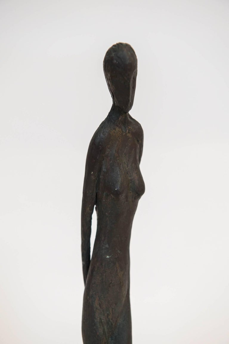 Bronze Figure of a Woman by Canadian Sculptor Jack Culiner In Excellent Condition For Sale In Toronto, ON