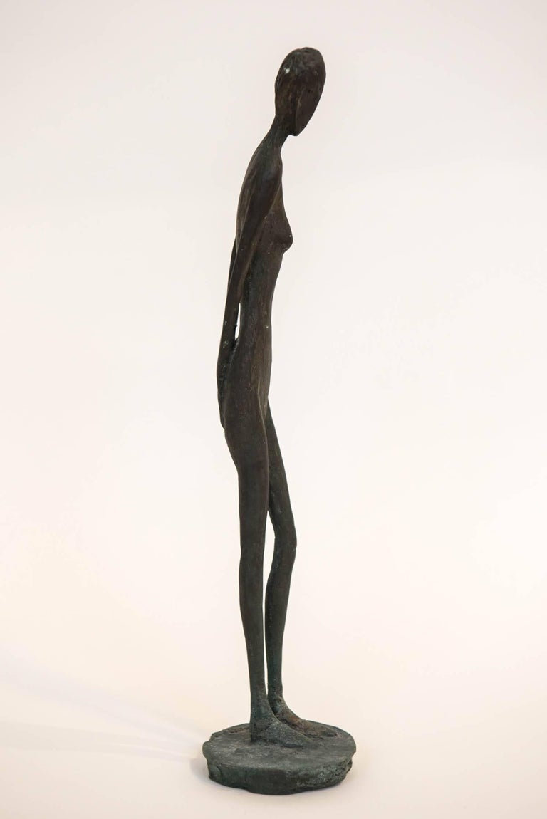 Late 20th Century Bronze Figure of a Woman by Canadian Sculptor Jack Culiner For Sale