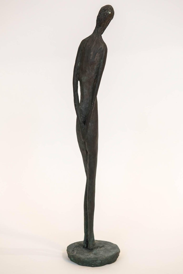 Bronze Figure of a Woman by Canadian Sculptor Jack Culiner For Sale 1