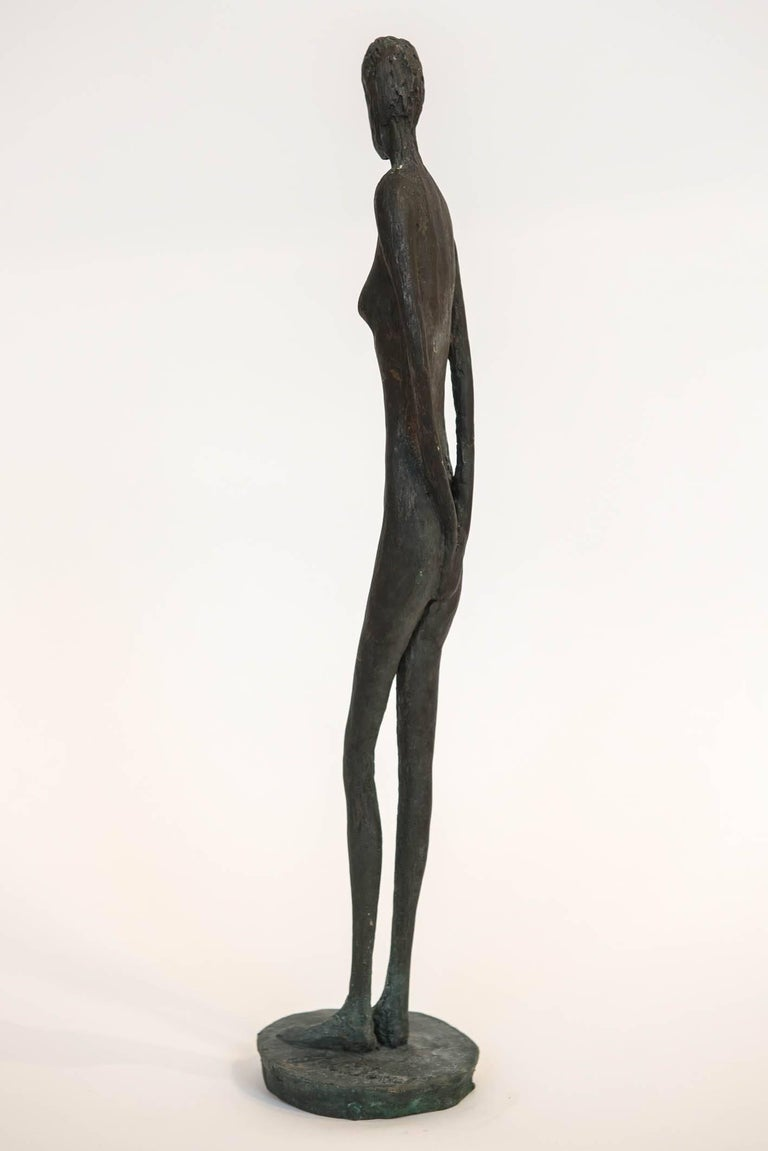 Bronze Figure of a Woman by Canadian Sculptor Jack Culiner For Sale 2