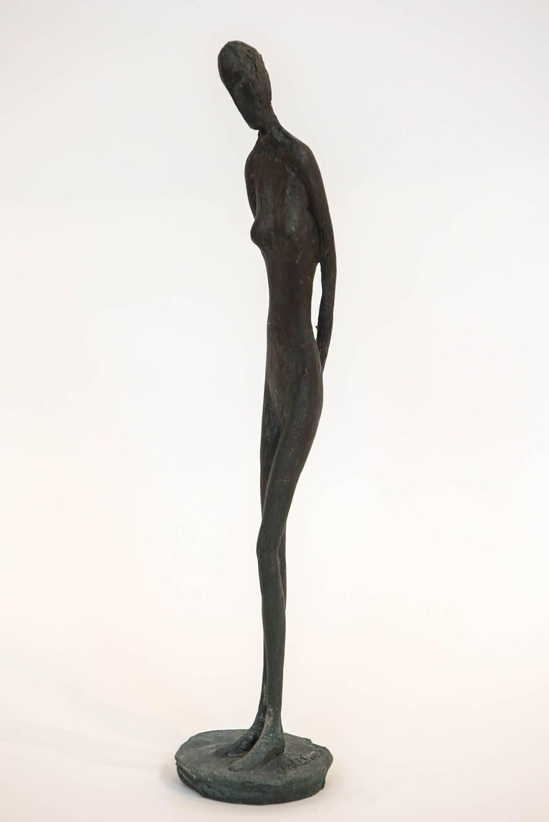 Bronze Figure of a Woman by Canadian Sculptor Jack Culiner For Sale 3