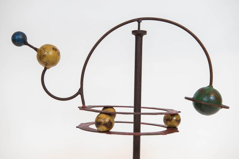 Painted Orrery Mobile Sculpture 4