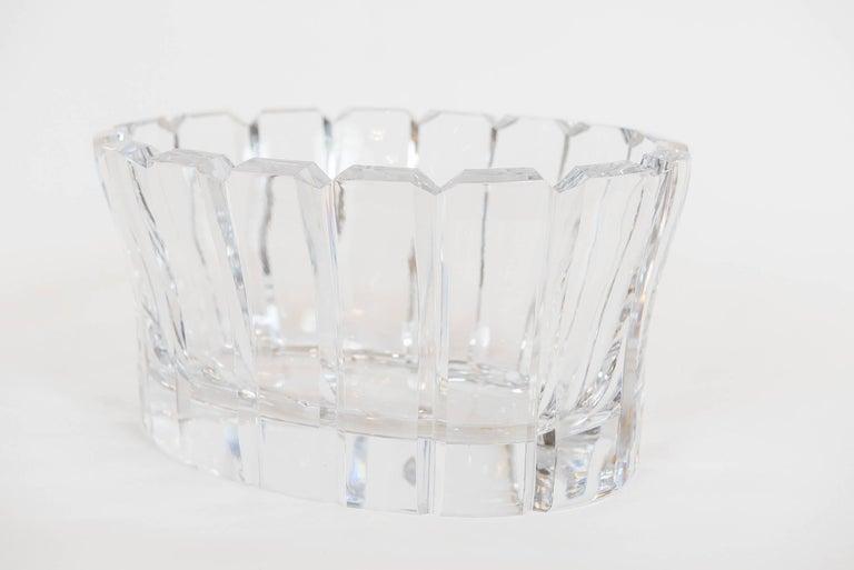 Swedish Vintage Crystal Bowl by Orrefors, Sweden For Sale