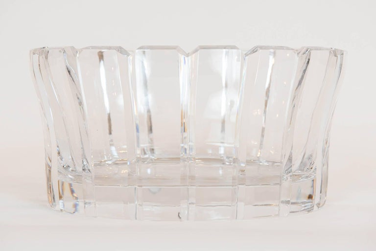 Vintage Crystal Bowl by Orrefors, Sweden In Excellent Condition For Sale In Toronto, ON