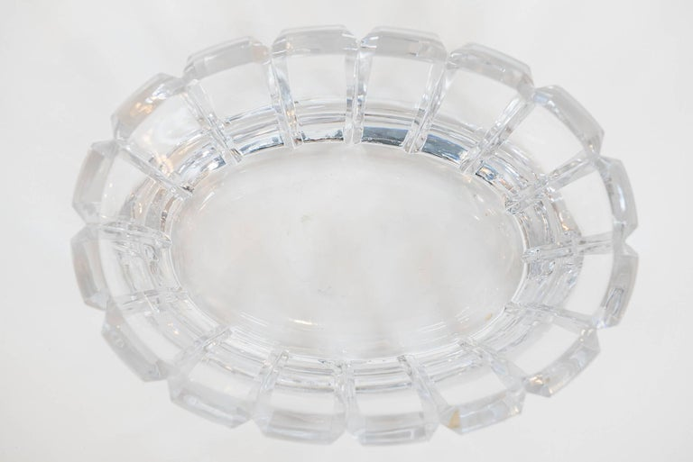 Late 20th Century Vintage Crystal Bowl by Orrefors, Sweden For Sale